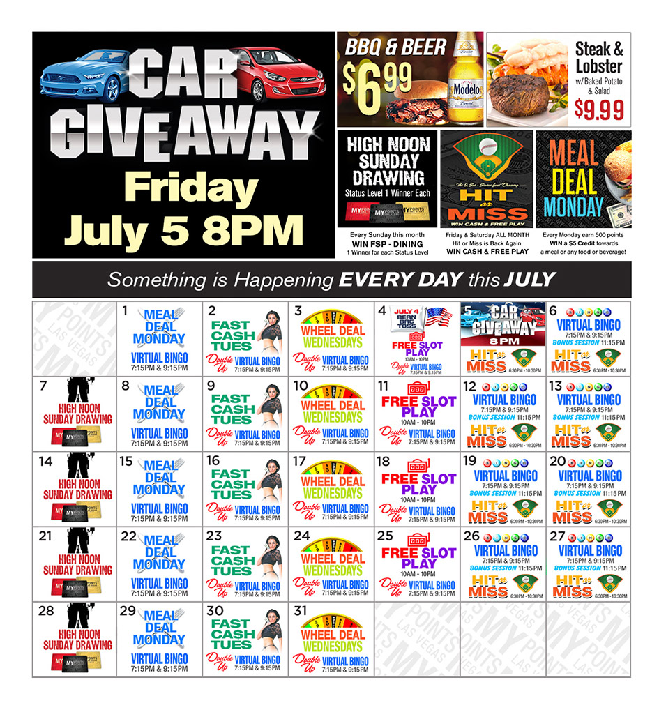 Upcoming Promotions - July 2019
